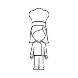 silhouette faceless avatar woman chef suit Royalty Free Stock Images