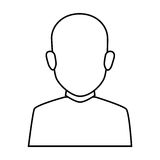 Silhouette faceless half body brunette bald man Stock Photography