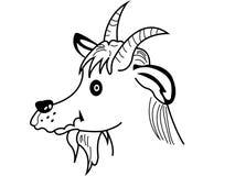 Silhouette faces goat Stock Photos
