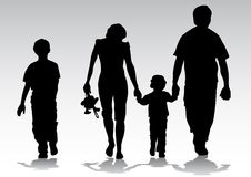 Silhouette family Royalty Free Stock Photos