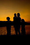 Silhouette of family Stock Image