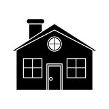 Silhouette family house detailed traditional Royalty Free Stock Photography