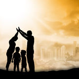 Silhouette Family Stock Image