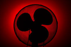 Silhouette fan Royalty Free Stock Photo