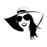 Silhouette fashion girl 2 Royalty Free Stock Photography