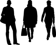Silhouette fashion men Royalty Free Stock Photo