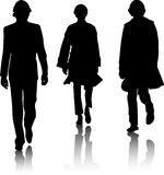 Silhouette fashion men Royalty Free Stock Photos