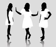 Silhouette fashion woman Royalty Free Stock Images