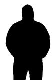 Silhouette of a fat man in a sports jacket Royalty Free Stock Image