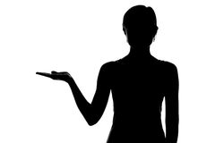 Silhouette of a female figure  Royalty Free Stock Photo
