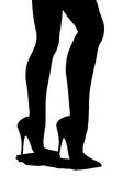 Silhouette of female legs Royalty Free Stock Image