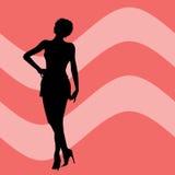 Silhouette femelle Photographie stock libre de droits