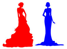Silhouette femelle noble Photo stock