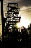 Silhouette of Ferris Wheel During Dusk Royalty Free Stock Photo
