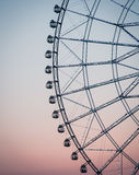 Silhouette of ferris wheel Royalty Free Stock Images