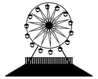 Silhouette Ferris wheels Royalty Free Stock Images