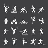 Silhouette figures of athletes sports. Silhouette figures of athletes popular sports Stock Photos