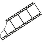 Silhouette film Royalty Free Stock Image