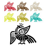 Silhouette Fire Bird Phoenix. Phoenix Ancient Symbol. Stock Photo