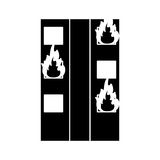 Silhouette fire building residential emergency Royalty Free Stock Photo