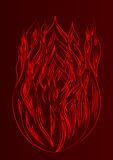 Silhouette of fire dark background Royalty Free Stock Photos