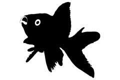 Silhouette of a fish. Isolated on white background royalty free illustration