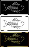 Silhouette of fish from the outline fish minimalist logo. Silhouette of fish from the outline fish art minimalist logo Stock Photography