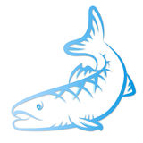 Silhouette fish for vector Stock Photos