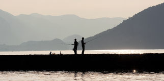 Silhouette: Fishing Stock Photos