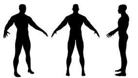 Silhouette of fit man Royalty Free Stock Images