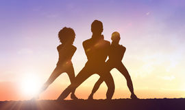 Silhouette of fit person Royalty Free Stock Photography