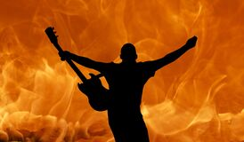 Silhouette, Flame, Light, Heat Royalty Free Stock Photography