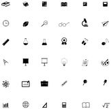 Silhouette flat education academic icon for many subject Royalty Free Stock Photography