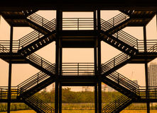 Silhouette flight of stairs structur Stock Photo