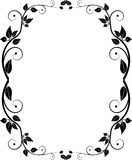 Silhouette floral frame Stock Photography