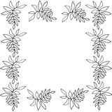 Silhouette of floral frame. Silhouette frame of floral frame simple design Stock Images