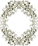 Border. Silhouette of floral frame - vector illustration Stock Photos