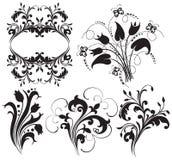 Silhouette florale illustration de vecteur