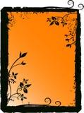 Silhouette florale de vecteur Photographie stock libre de droits