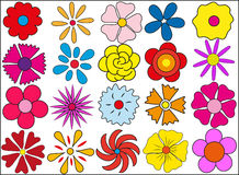 Silhouette of flowers on March 8. Bright colors for the spring festival Royalty Free Stock Photography