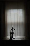 Silhouette of Flugelhorn Royalty Free Stock Image