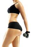 Silhouette féminine sportive Image stock