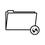 Silhouette folder symbol to update files vector illustration Stock Photos