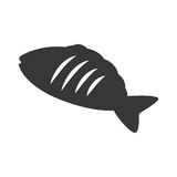 Silhouette food fish graphic icon. Vector illustration eps 10 Stock Photos