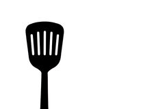 Silhouette of a food preparation spatula Stock Image