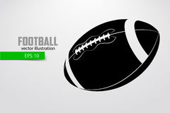 Silhouette of a football ball. Royalty Free Stock Photography