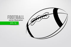Silhouette of a football ball. Royalty Free Stock Images