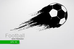 Silhouette of a football ball. Vector illustration Royalty Free Stock Photo