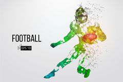 Silhouette of a football player. Vector illustration Royalty Free Stock Photo