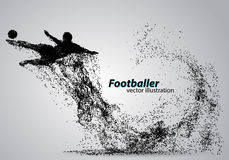 Silhouette of a football player from particles Stock Image